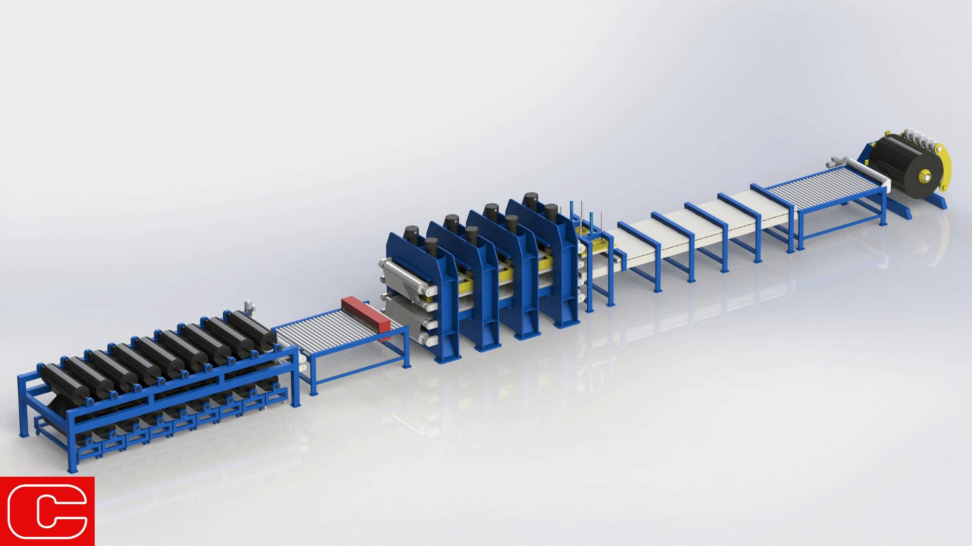 Cannon Plant for thin composite laminates continuous production