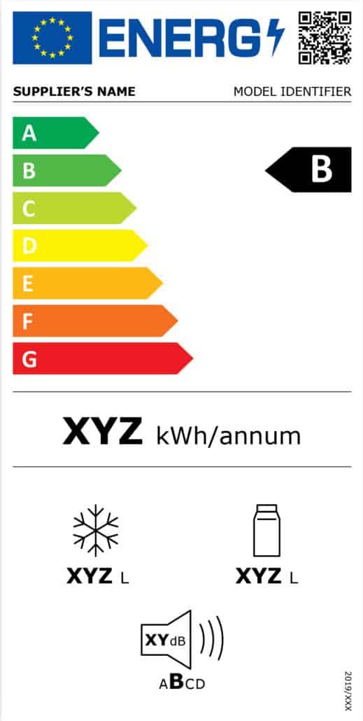 Energy efficiency label - Cannon